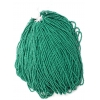 Seedbead Opaque Medium Dark Green Strung 10/0